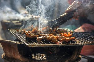 BBQ, cooking meat, attracting Rats