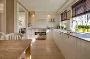 kitchen, cabinets, chairs